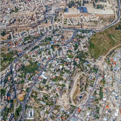 The City of David and Temple mount, Jerusalem from above