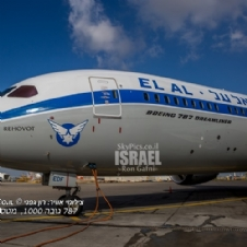 Yom Ha Atzmaut 2019' ELAL 787 flight across Israel
